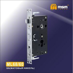] Замок врезной MSM ML68/60 CP (хром) для китайских дверей