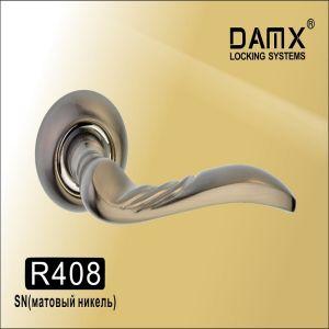 Ручки на кругл. накладке DAMAX R408 SN (мат.никель)