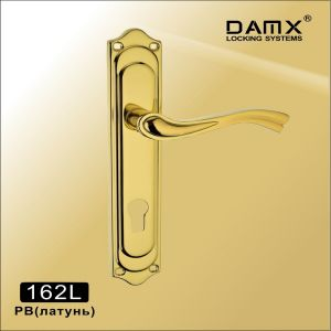 Ручка на планке 162L PB DAMX (85mm) латунь