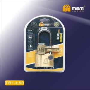Замок навесной MSM TB1-L  50мм блистер