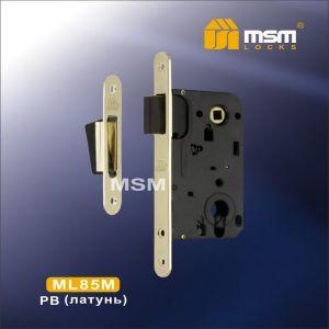 Замок врезной MSM ML85 M PB (полированная латунь)