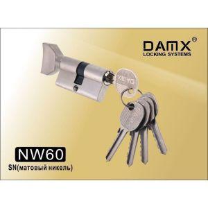 Цилиндровый механизм DAMX NW60 SB ключ-вертушка матовый никель