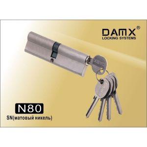 Цилиндровый механизм DAMX NW80 SN ключ-вертушка матовый никель