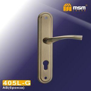 Ручка на планке 405L AB MSM (85mm) бронза