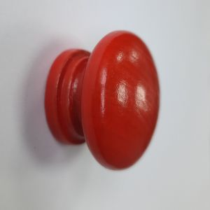 Ручка кнопка мебельная KL-3312 Ф35 RH (красное дерево)